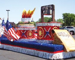 Floral Sheeting Parade Float Applications